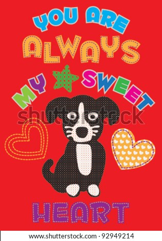 cute dog / T-shirt graphics / cute cartoon characters / cute graphics for kids / Book illustrations