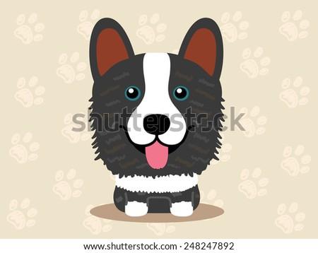 Cute dog  - vector  - stock vector
