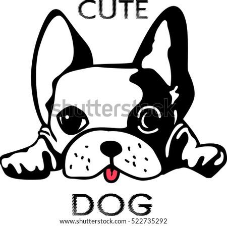 cute dog vector art stock vector 2018 522735292 shutterstock rh shutterstock com dog vector art free dog vector free download