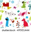 cute dogs -seamless wallpaper - stock vector