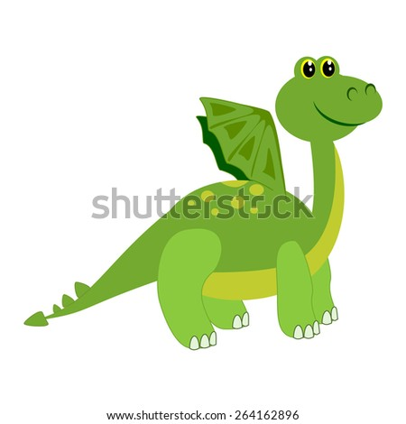 Cute dragon Monster cartoon Isolated Illustration