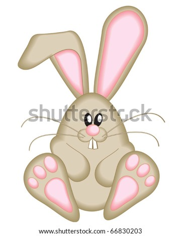 Cute Easter Bunny.  Use to create fun Easter projects.