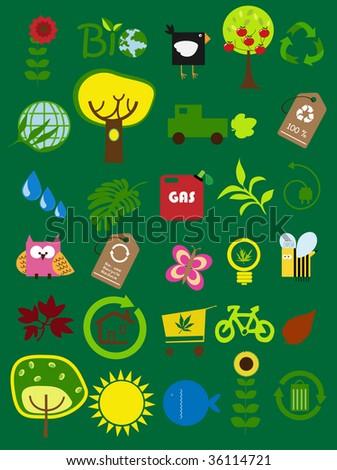cute ecology - stock vector
