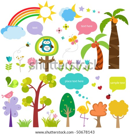 cute ecology icons - stock vector