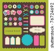 cute elements for scrap-booking. vector illustration - stock vector