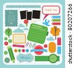 cute elements for scrap-booking. vector illustration - stock photo