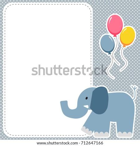 cute elephant framecard - Elephant Picture Frame