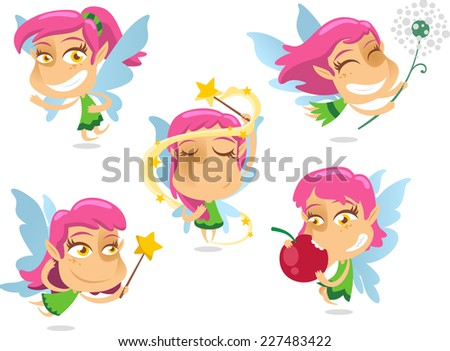 Cute Fairy vector illustration. - stock vector