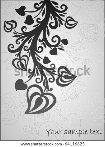 cute floral background  - stock vector