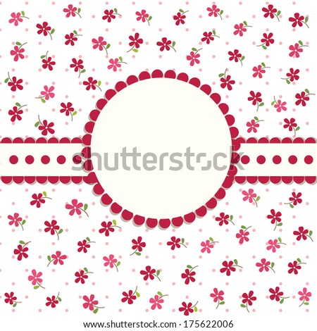 Cute floral background for birthday, wedding, invitation - stock vector