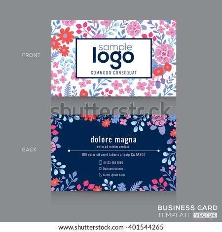 Cute floral pattern business card name stock vector royalty free cute floral pattern business card name card design template fbccfo Gallery