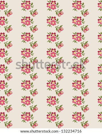 cute floral pattern design. vector illustration - stock vector