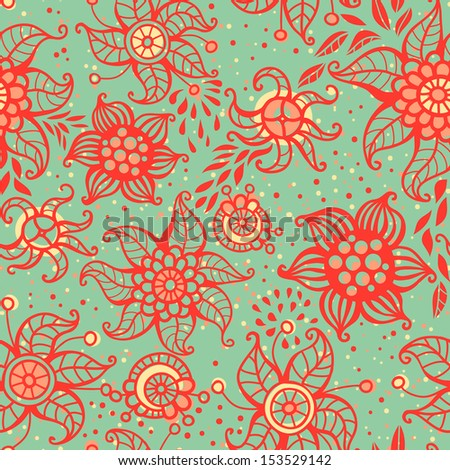 Cute floral seamless pattern. Vector illustration. Can be used for wallpapers, fills, web page background, surface textures.