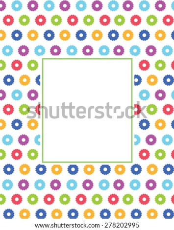 Cute Flowery Frame Invitation Template Stock Vector 278202995 ...