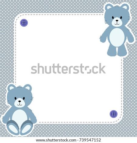 Cute frame card blue teddy bears stock vector hd royalty free cute frame card with blue teddy bears thecheapjerseys Choice Image