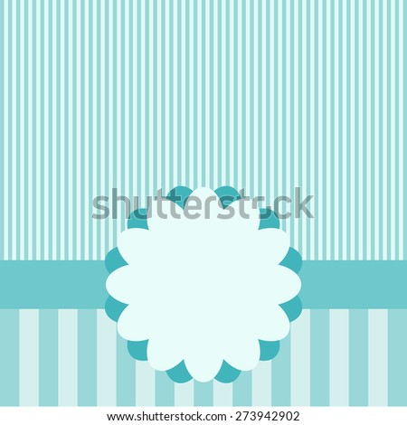 Cute frame design and card. Vector illustration.  - stock vector