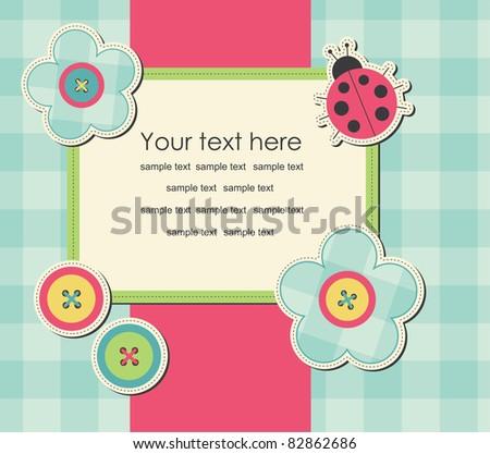 cute frame design. vector illustration - stock vector