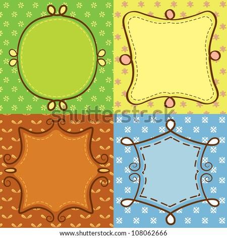 cute frame doodle - stock vector