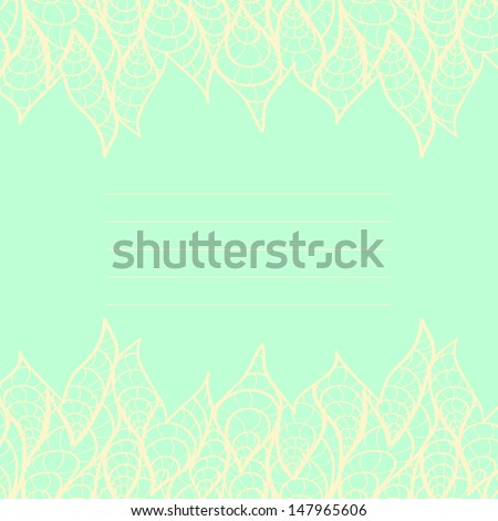 Cute frame with lace. Can be used for wedding invitation or some text. - stock vector