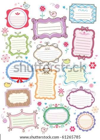 cute frames - stock vector