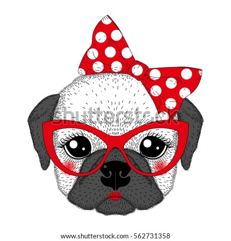 Best Pug Bow Adorable Dog - stock-vector-cute-french-bulldog-girl-portrait-with-pin-up-bow-tie-kat-eyes-glasses-hand-drawn-dog-face-562731358  Snapshot_59730  .jpg