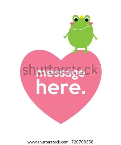 cute frog valentine message stock vector 720708358 shutterstock rh shutterstock com Cute Frog Silhouette Vector The Crocodile