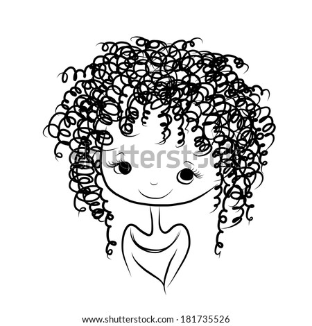 Curly Hair Stock Vectors Images Amp Vector Art Shutterstock