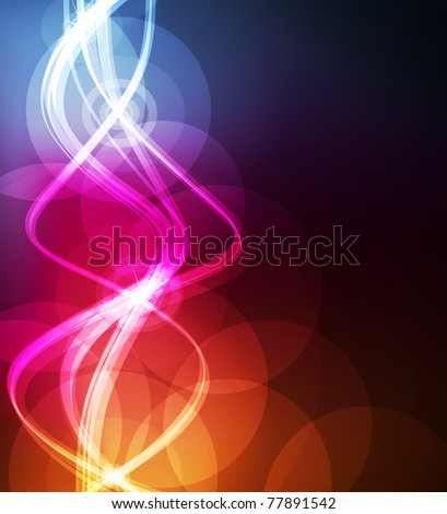 Cute glowing neon lights background illustration - stock vector