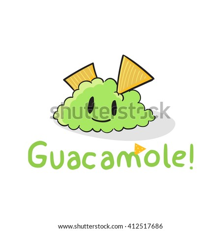 Cute Guacamole vector illustration