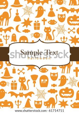 Cute Halloween background - stock vector