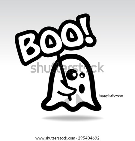 Cute Halloween Design Background - stock vector