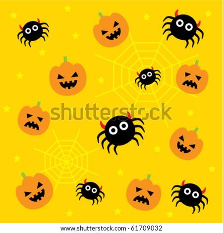 Cute Halloween Wallpaper Stock Vector 61709032 - Shutterstock