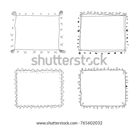 Cute Hand Drawing Frame Stock Vector 765602032 - Shutterstock
