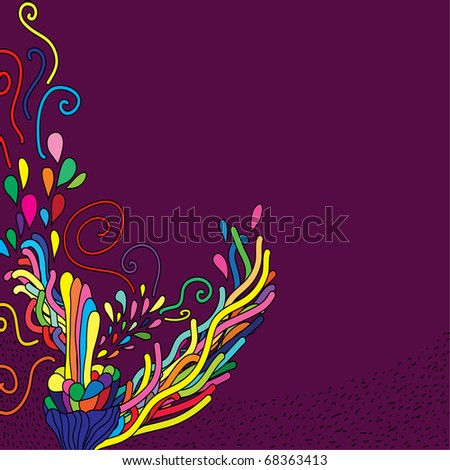 cute hand-drawn doodle . background - stock vector