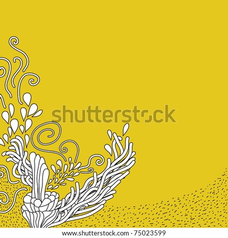 cute hand-drawn doodle. background - stock vector