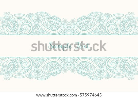 Cute hand drawn mehndi design wedding stock photo photo vector cute hand drawn mehndi design for wedding invitations greeting cards and backgrounds vector illustration stopboris Images
