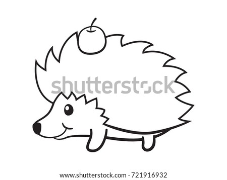 Cute Hedgehog Bears Apple Page Book Stock Vector HD (Royalty Free ...