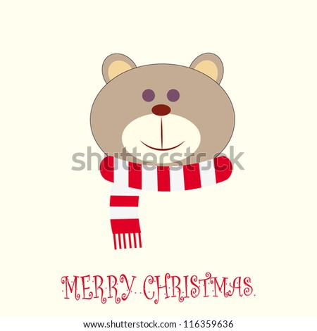 Cute holiday card/Vector illustration