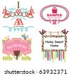Cute label tag - stock vector