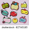 cute labels - stock vector