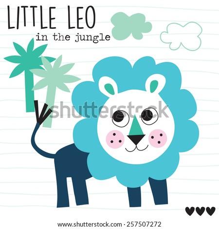 cute leo vector illustration - stock vector