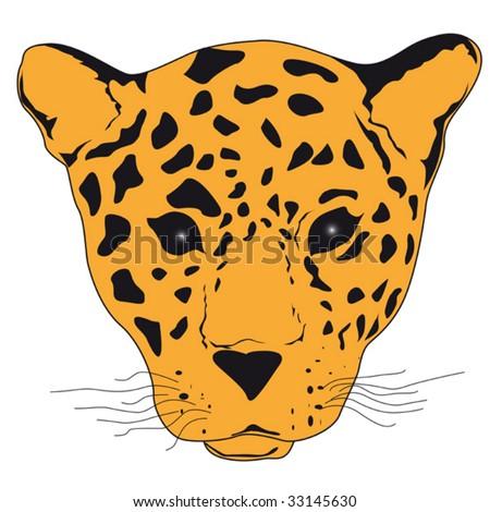 leopard face clip art - photo #13