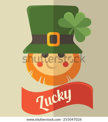 cute leprechaun icon for your St. Patrick's day - stock vector