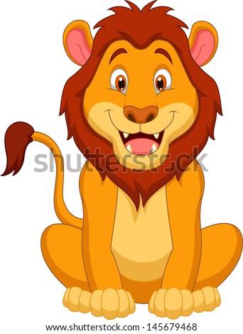 Animals cartoon drawing lion - photo#31