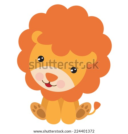 √ Cute Lion Vector