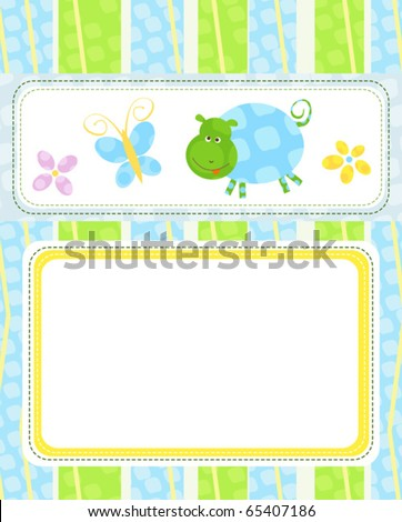 cute little animals template - stock vector