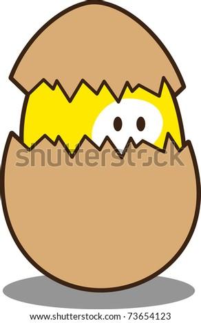 cute little chicken - stock vector