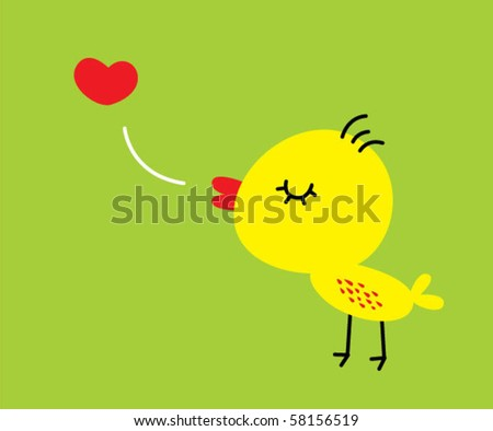 cute little chicky with love