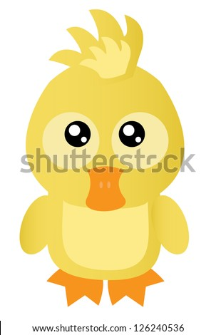 Cute little duck - stock vector