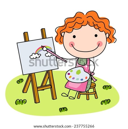 Cute Little Girl Artist